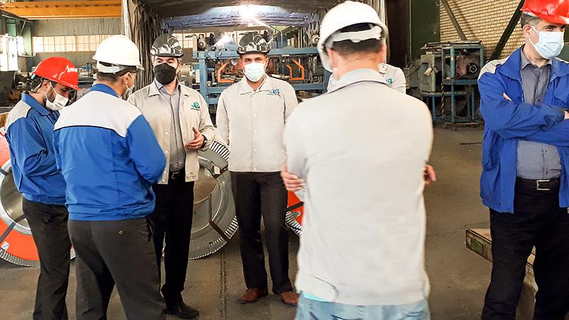 بازدید شرکت ایران خودرو دیزل از خط تولید شرکت صنیع کاوه